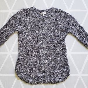 🛍Dress Barn Navy/Silver/Cream Sweater
